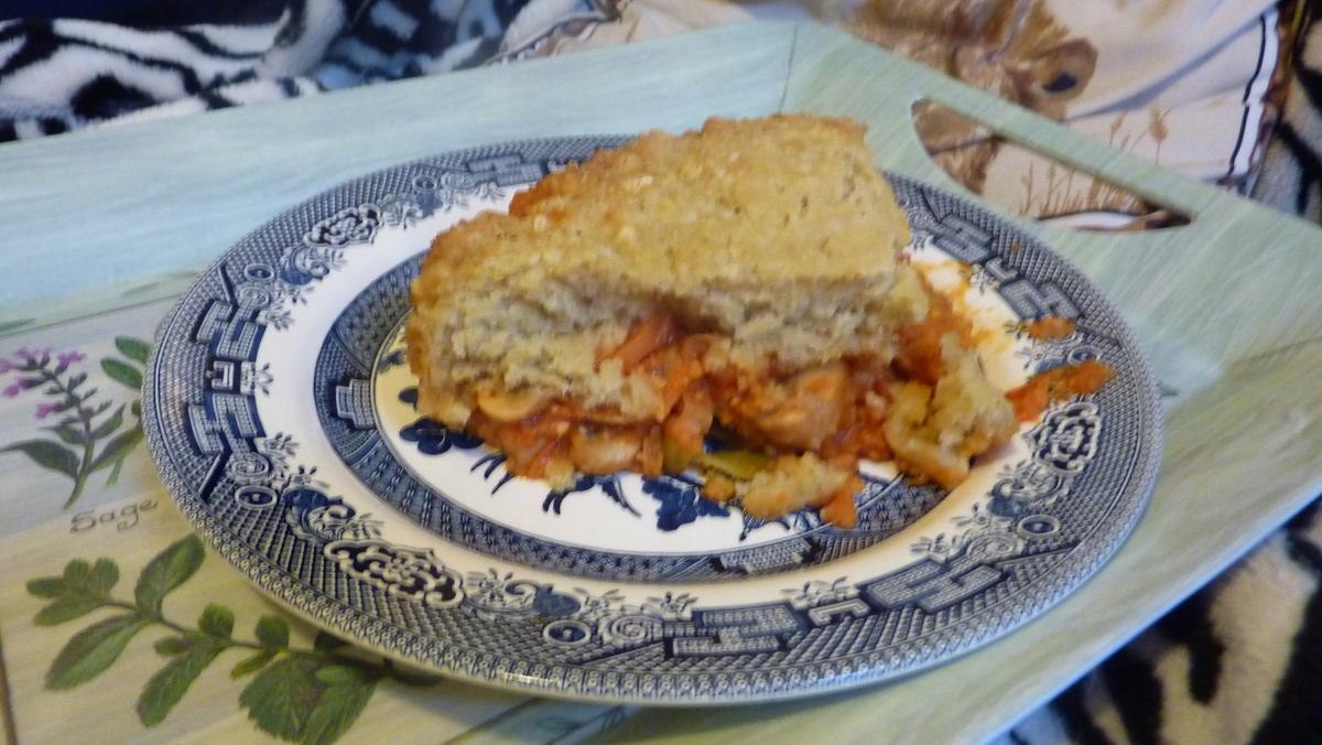 Hummus Vegetable Pie