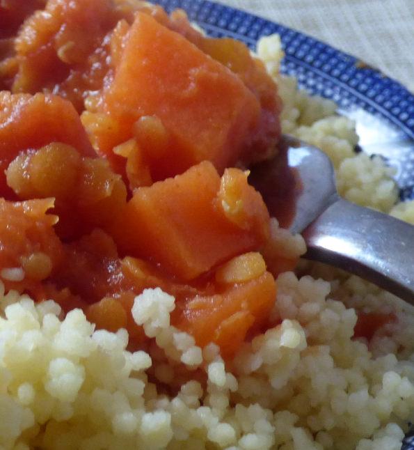 lentil chilli close up