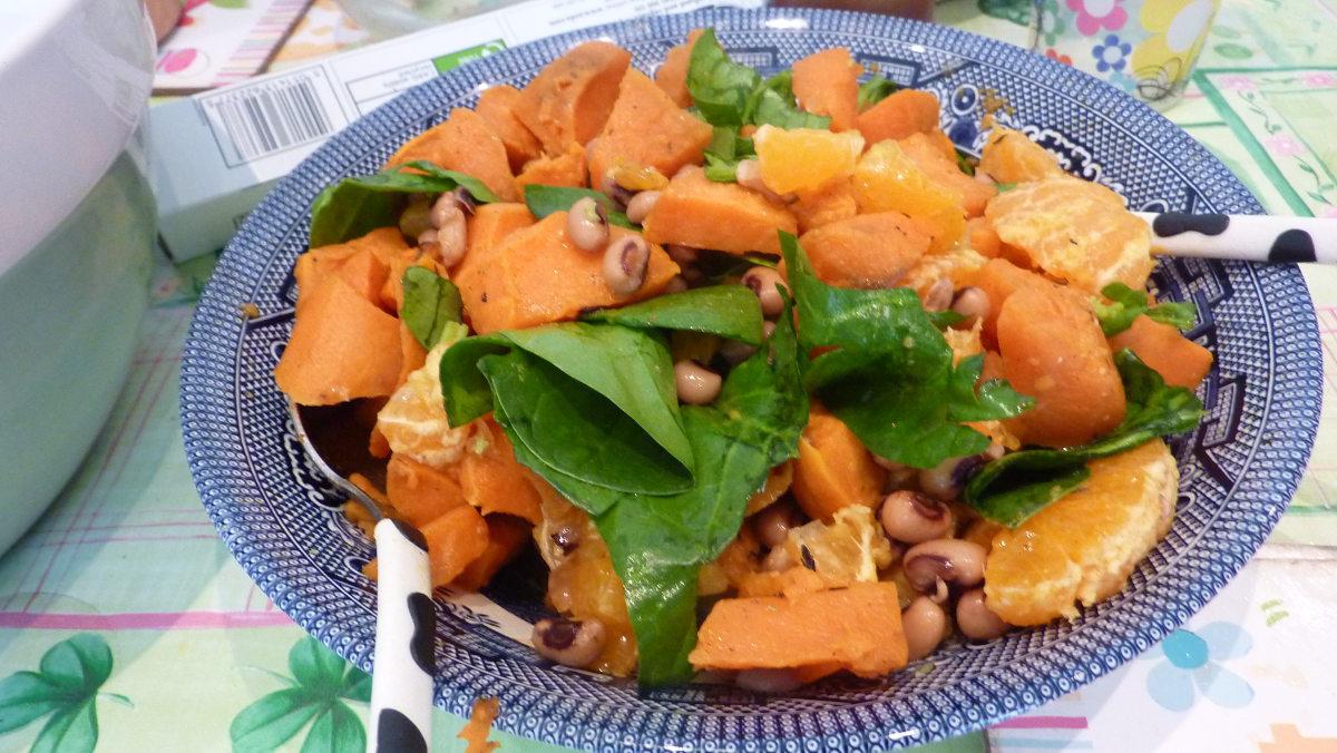 Sweet Potato and Satsuma Salad