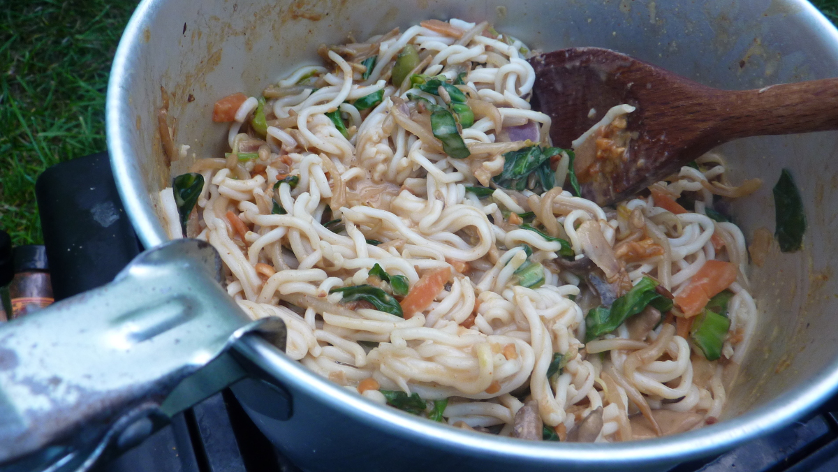 camping food - satay noodles
