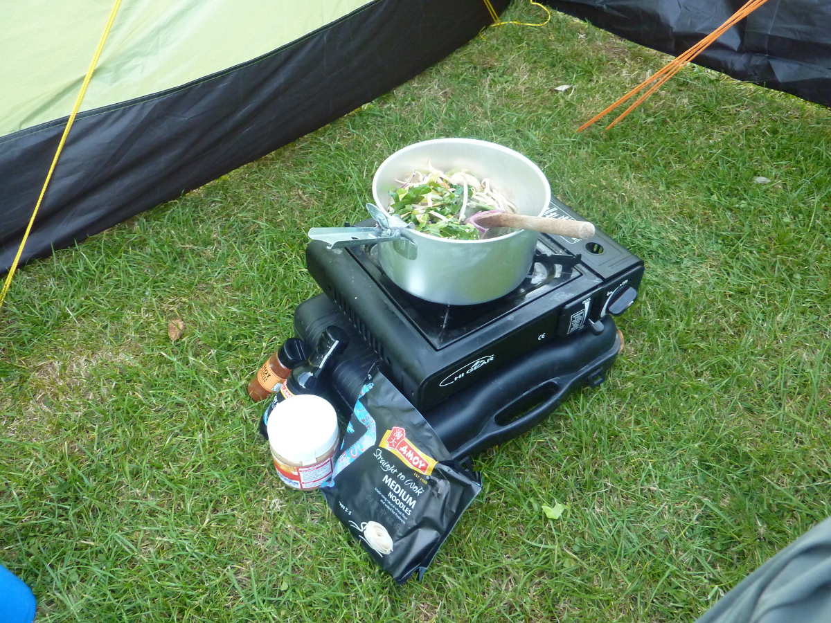 camping satay noodles - ingredients