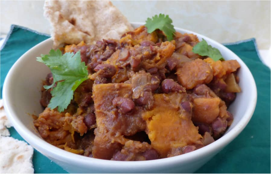 Slow Cooked Adzuki Bean and Sweet Potato Curry