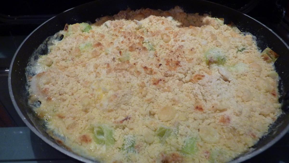 Frying Pan Fish Crumble