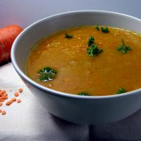 curried carrot and lentil soup from busylizziecooks.com