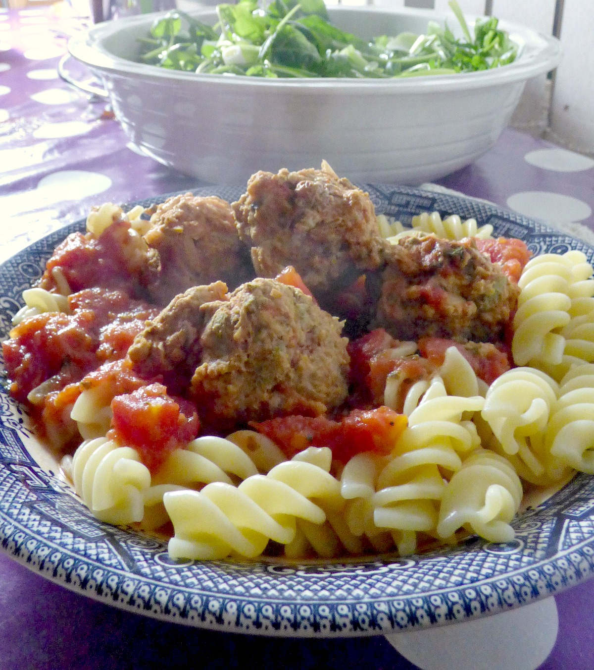easy pork, sage and lemon meatballs with pasta