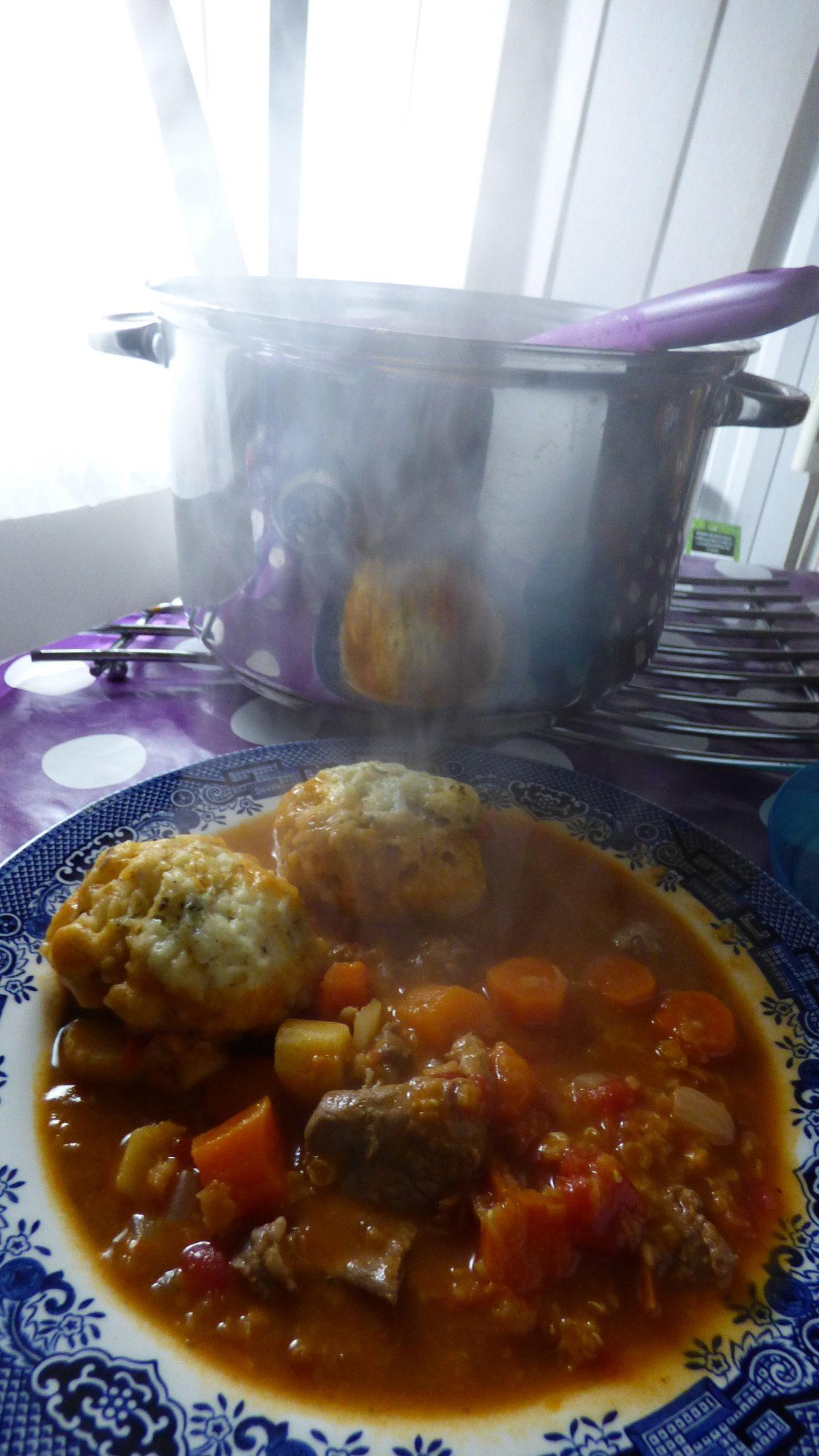 Lamb, Lentil, Lemon and Cumin Stew with Herby Dumplings