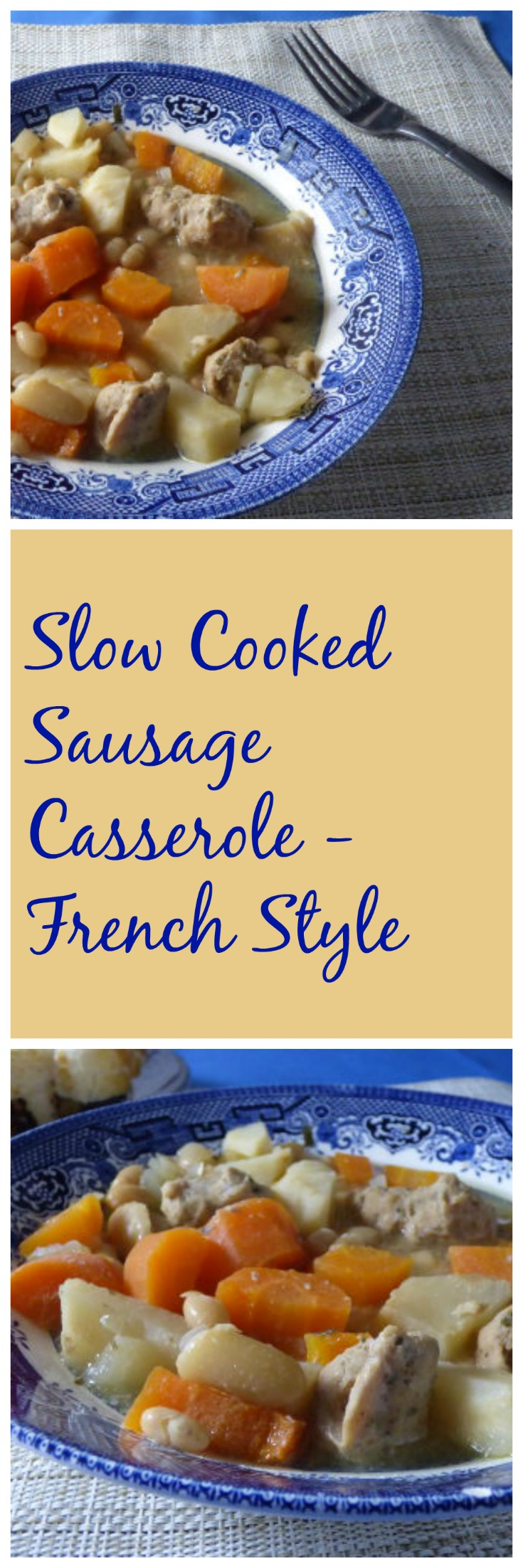 slow cooker sausage casserole french style long
