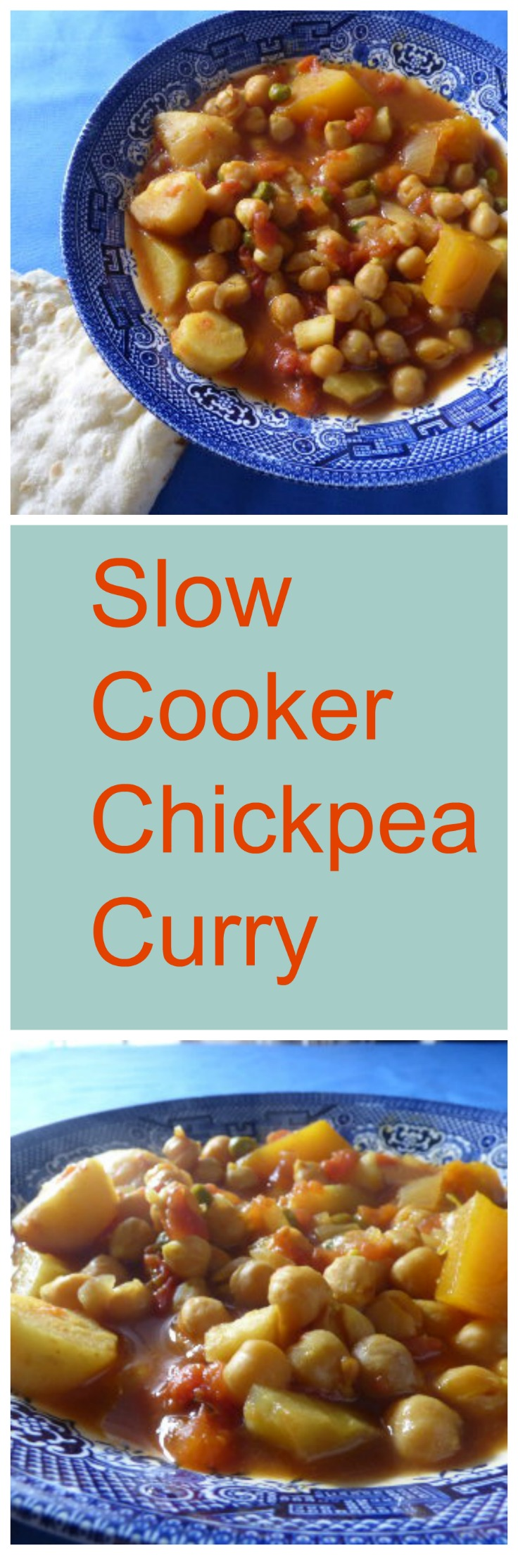 Slow cooker chickpea curry long