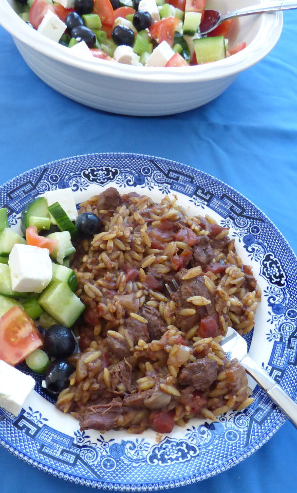 slow cooker venison giouvetsi with orzo