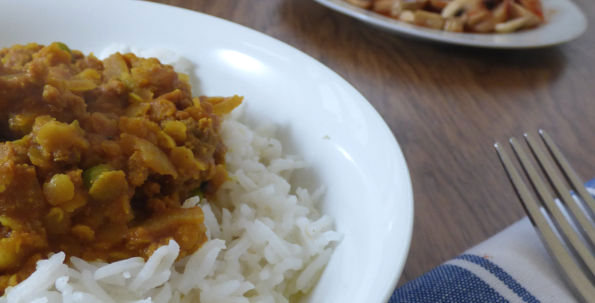 minced lamb and lentil curry