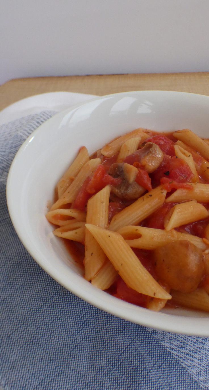 Microwave Pasta Sauce – Mushroom and Salami