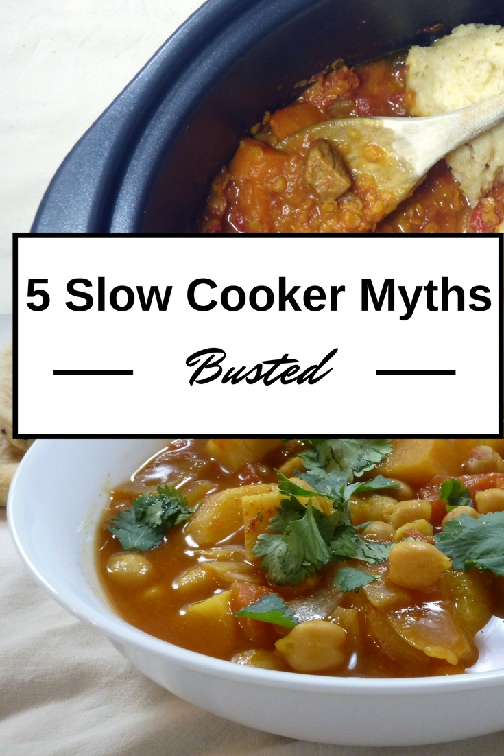 5 slow cooker myths busted - easy slow cooker tips from busylizziecooks.com