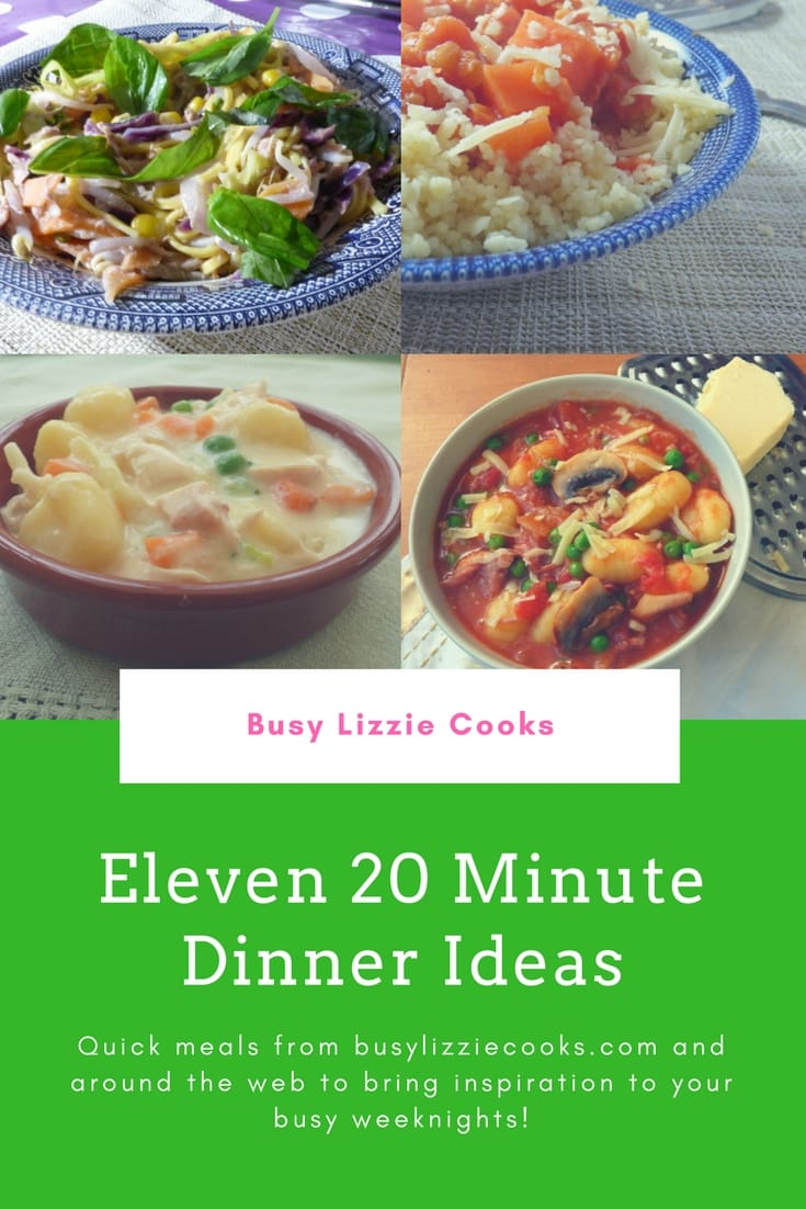 20 minute dinner ideas long pin