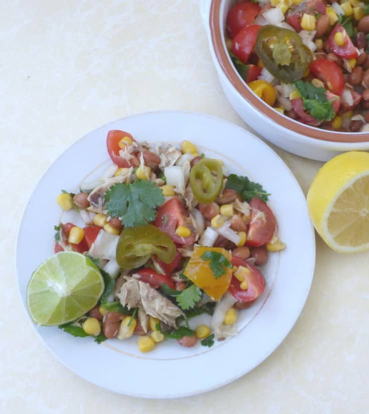 Tinned Mackerel Salad with Lime and Coriander