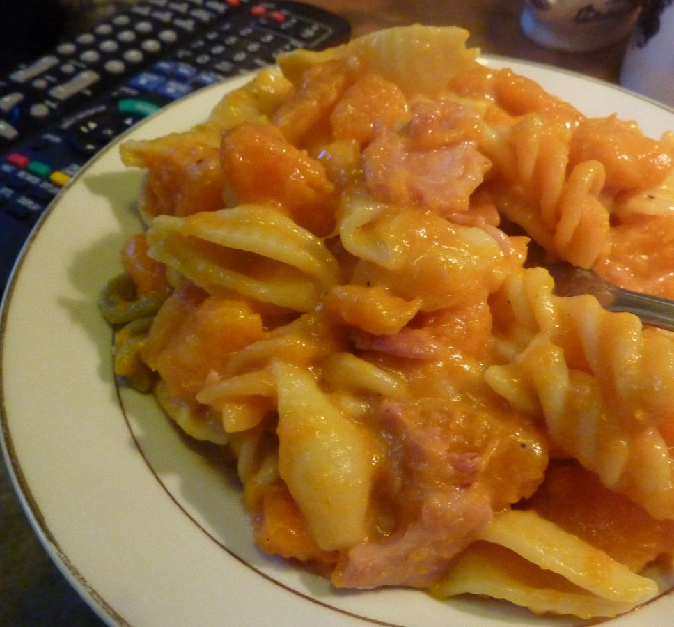 Butternut Squash and Bacon Pasta