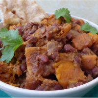 slow cooked adzuki bean and sweet potato curry, from busylizziecooks.com