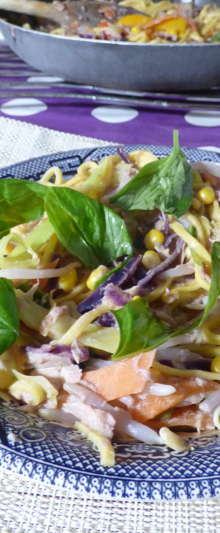 Long Quick Thai Style Tuna Noodles