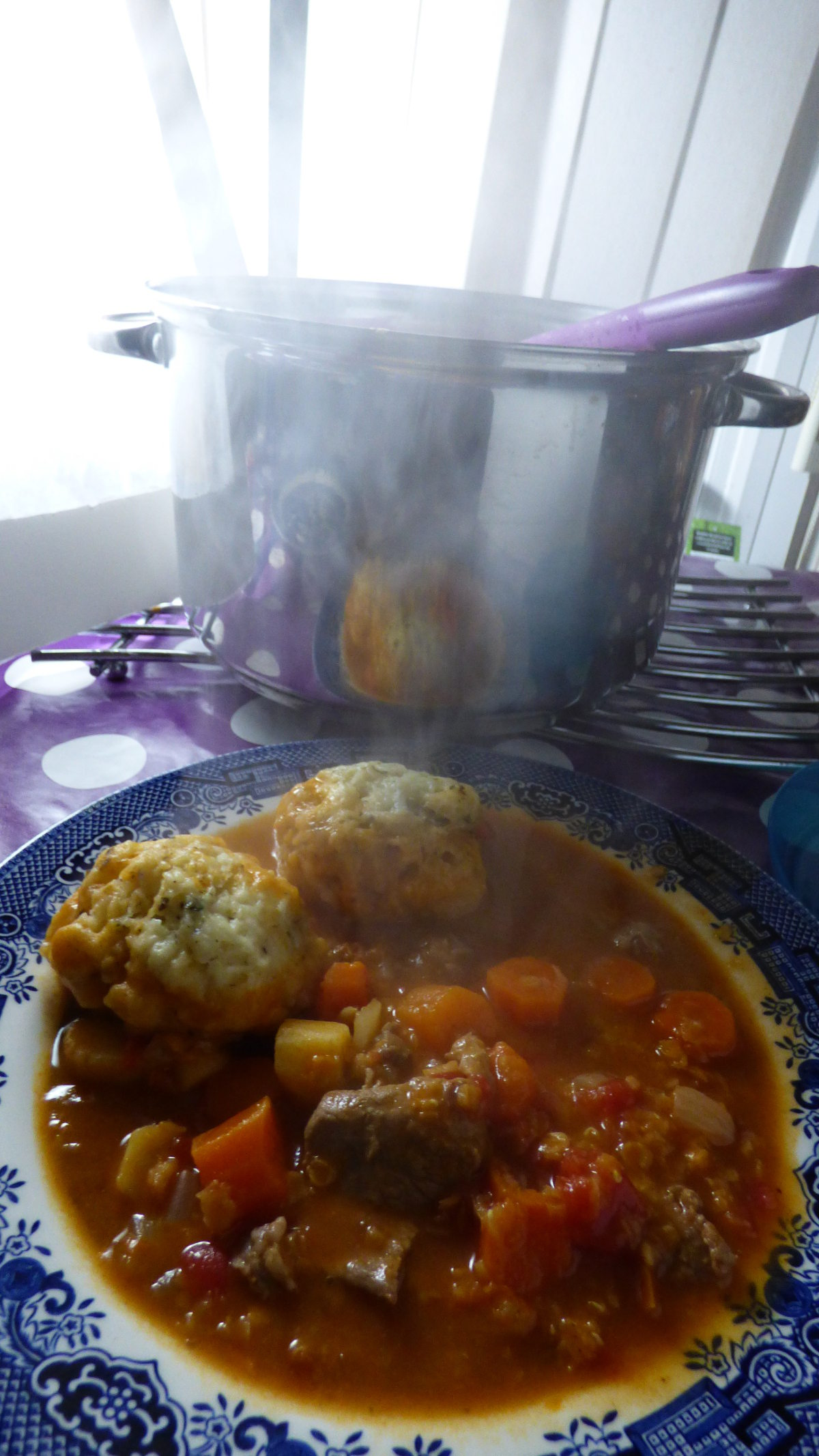 Lamb, Lentil, Lemon and Cumin Stew with Herby Dumplings