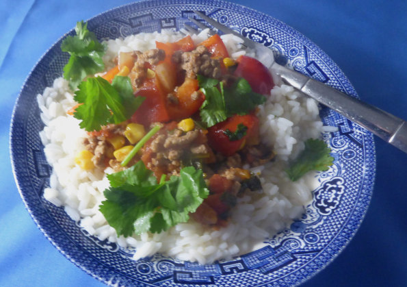 mince with lime and coriander_s