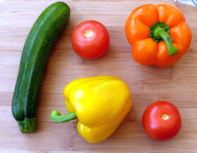 Roasted Mediterranean Vegetables - veg ready to prepare and roast